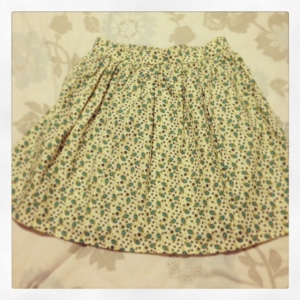 Still sewing - my first skirt for me!