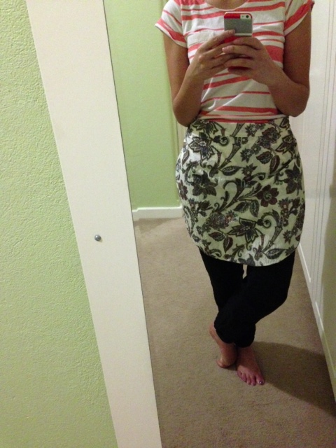 sewing: apron