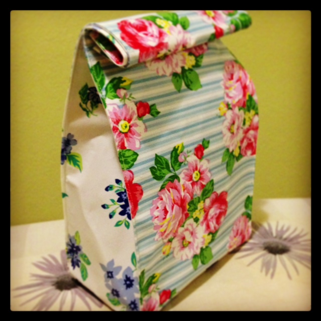 sewing: lunch bag