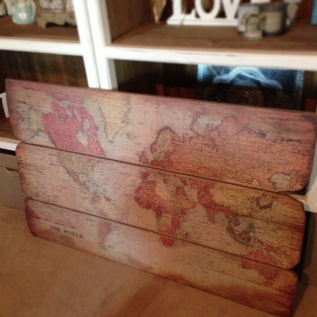 The latest interiors purchase: world map
